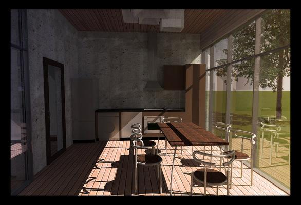 Архитектура и дизайн от Петра Горчицы - кухни+столовая