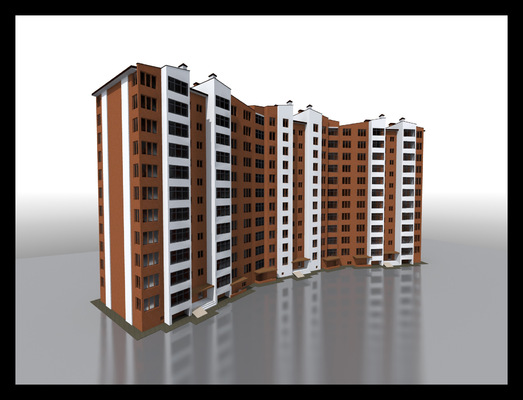 Архитектура и дизайн от Петра Горчицы - Разработка дизайна экстерьера 12-ти этажного дома. г Киев