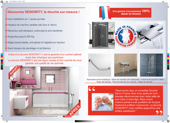 Joan Berry - Plaquettes commerciales Douche Senior France (verso)
