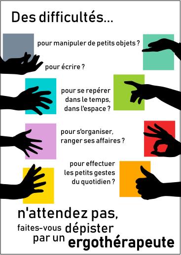 Géographismes - Affichette pour professionnelle du secteur paramédical (2018).