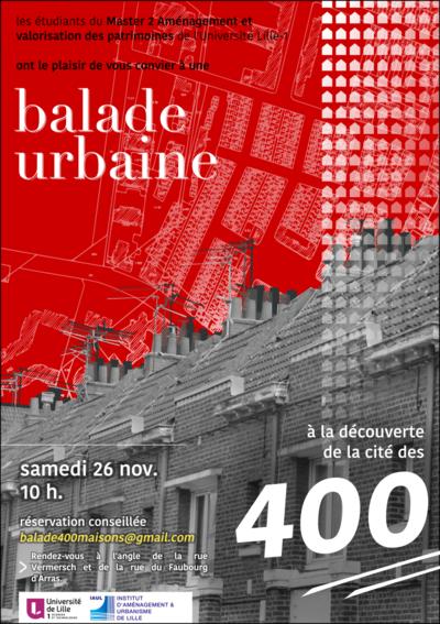 Géographismes - Affiche pour une balade urbaine organisée par le M2 AVP de lUniversité Lille 1 (novembre 2016).