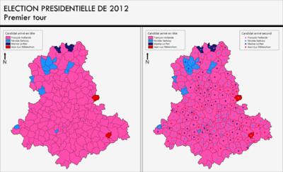 Géographismes - Résultats du 1er tour de lélection présidentielle de 2012 en Haute-Vienne.