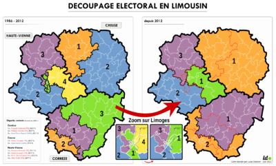 Géographismes - Redécoupage électoral en Limousin