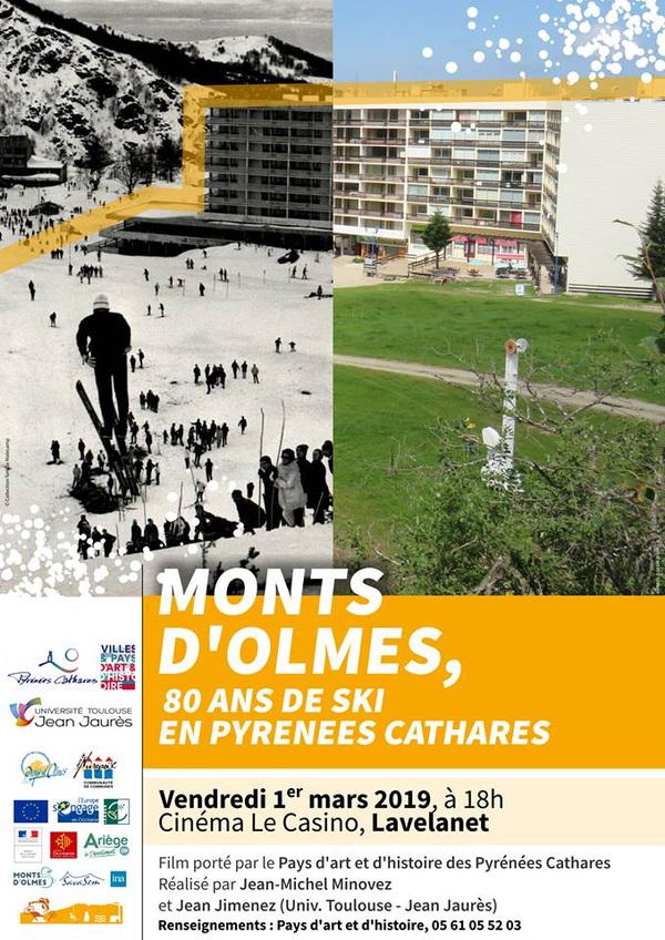 Géographismes - Affiche pour la projection dun film, organisée par le Pays dart et dhistoire des Pyrénées Cathares (2019).
