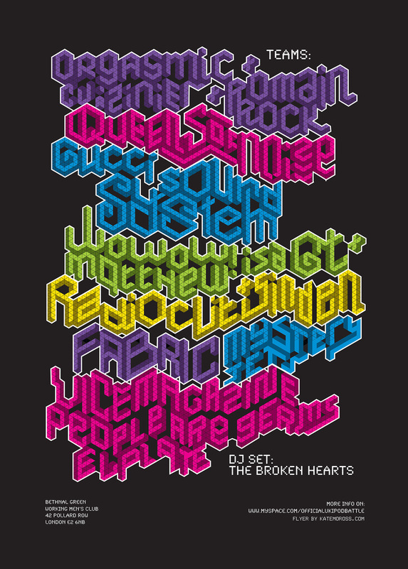 Kate Moross - iPod Battles Poster 2007