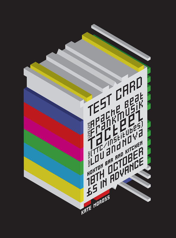Kate Moross - Test Card Flyer 2007