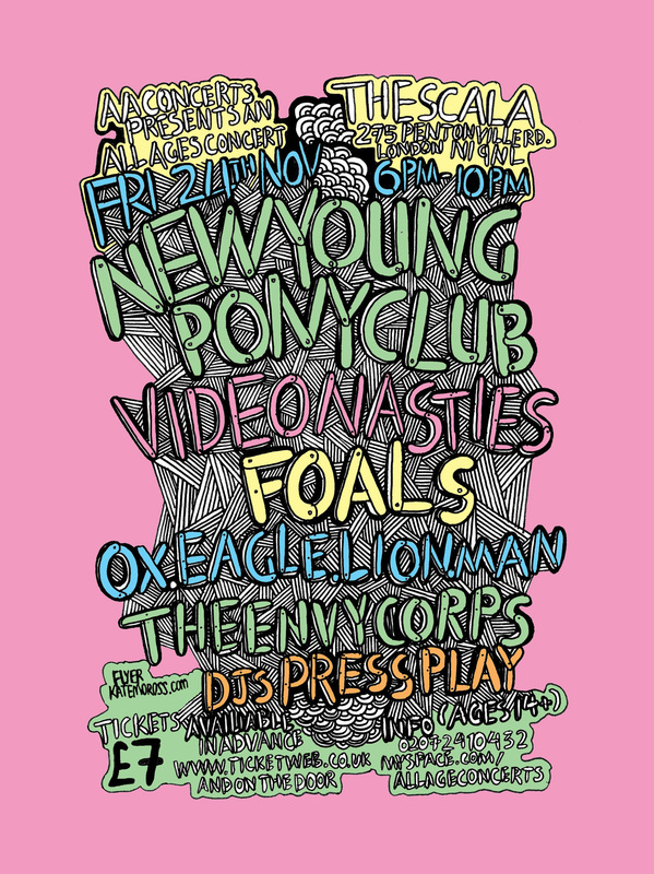 Kate Moross - New Young Pony Club Flyer 2006