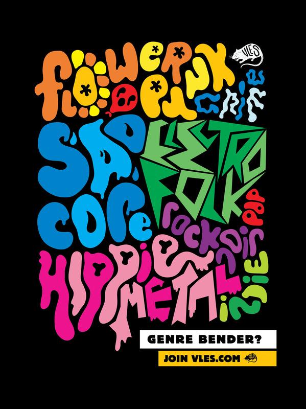 Kate Moross - VLES Genre Bender Poster 2007