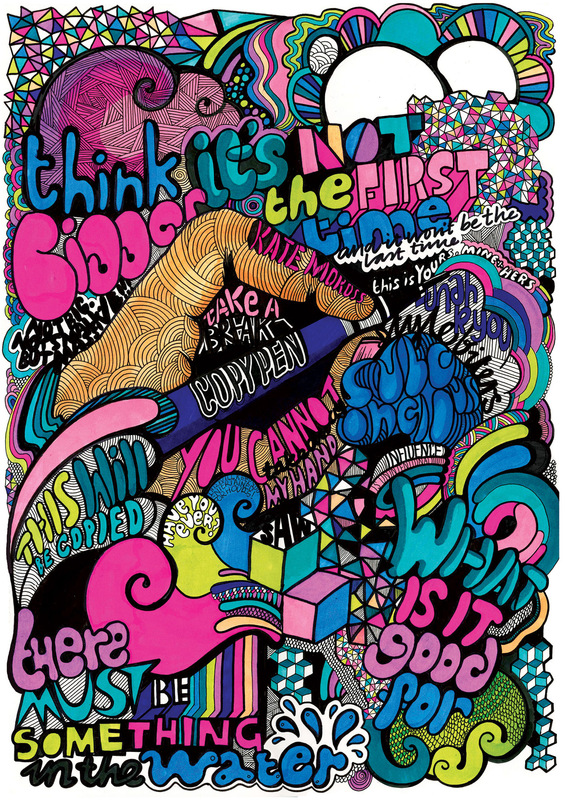 Kate Moross - Dont Panic Poster 2007