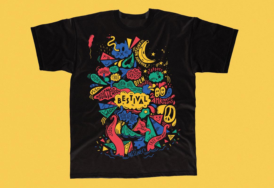 Kate Moross - Moross Bestival T-Shirt 2013