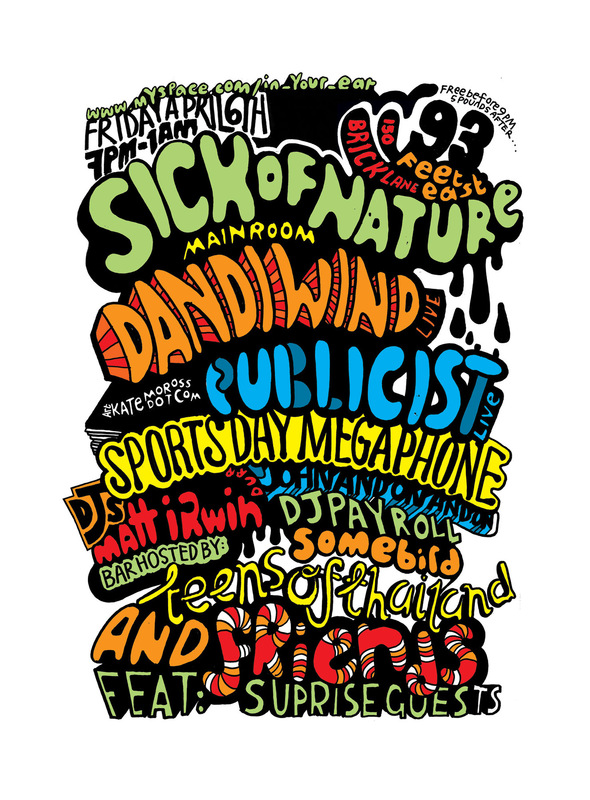 Kate Moross - Sick of Nature Flyer Series 2008