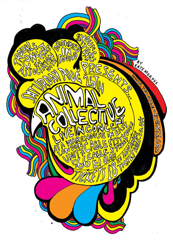 Kate Moross - Animal Collective Poster 2006