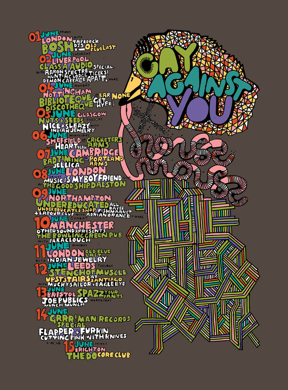 Kate Moross - Gay Against You Poster 2007