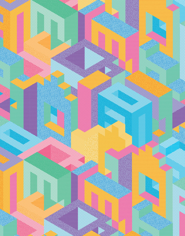 Kate Moross - Isometric Wallpaper 2014