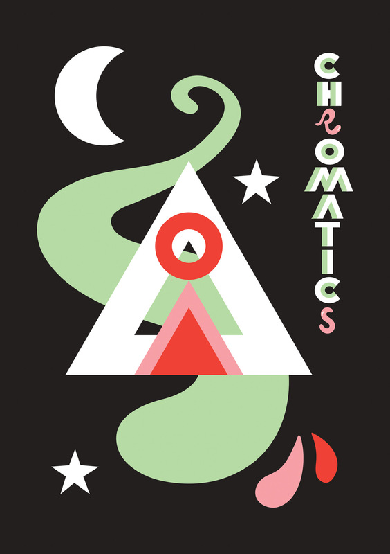 Kate Moross - Chromatics Poster collaboration with Alex Sushon 2008