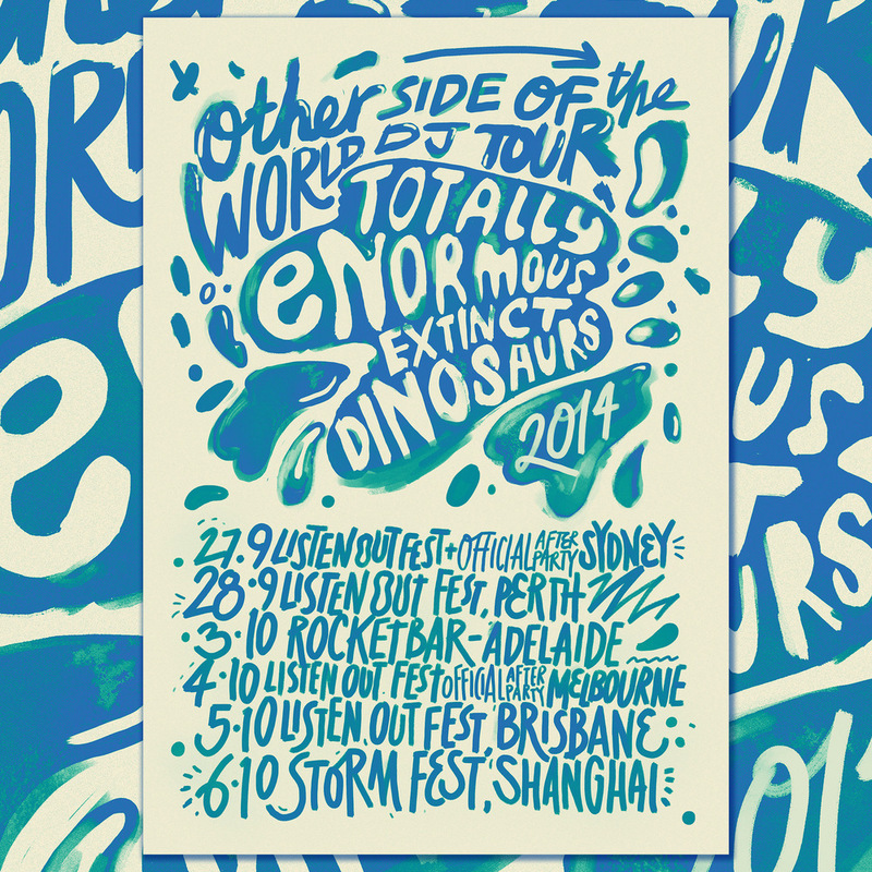 Kate Moross - TEED Other Side of The World Tour Poster 2014