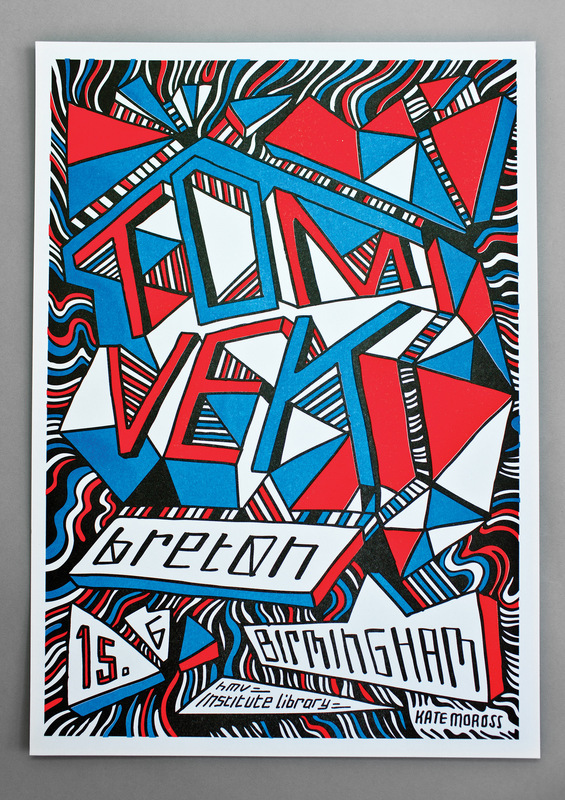 Kate Moross - Tom Vek Poster 2010