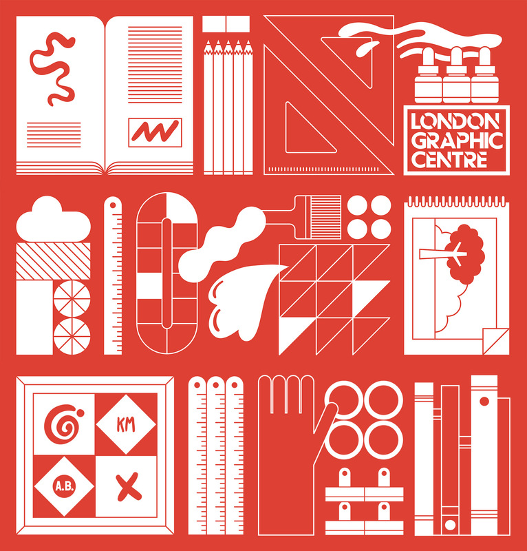 Kate Moross - London Graphics Center POS in collaboration with Anthony Burrill 2013