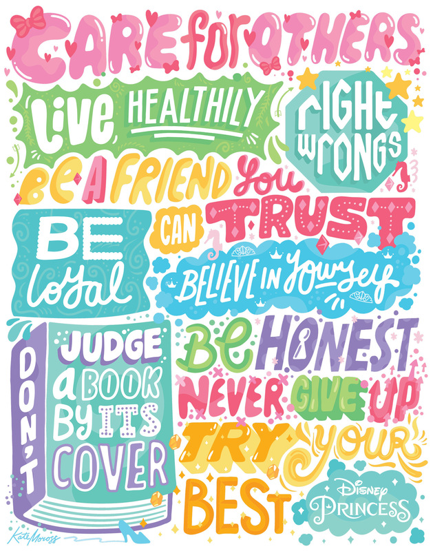 Kate Moross - The Princess Principles, Disney 2016