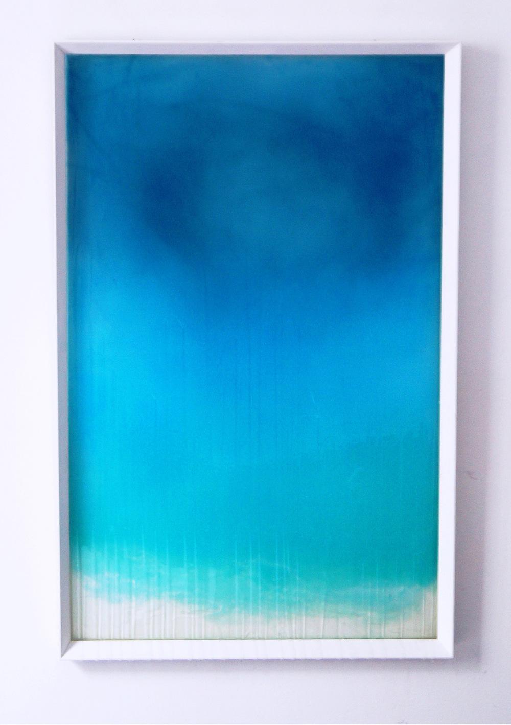 Aarón Sanromán - CONTENIBLES I - Metacrilato, óleo, acrílico. 100 x 70 cm (2015)