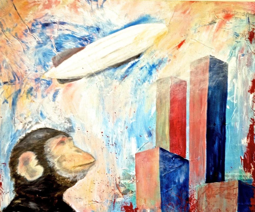 Alexander Ekman Sinclair - ART - Zeppelin trip (såld)