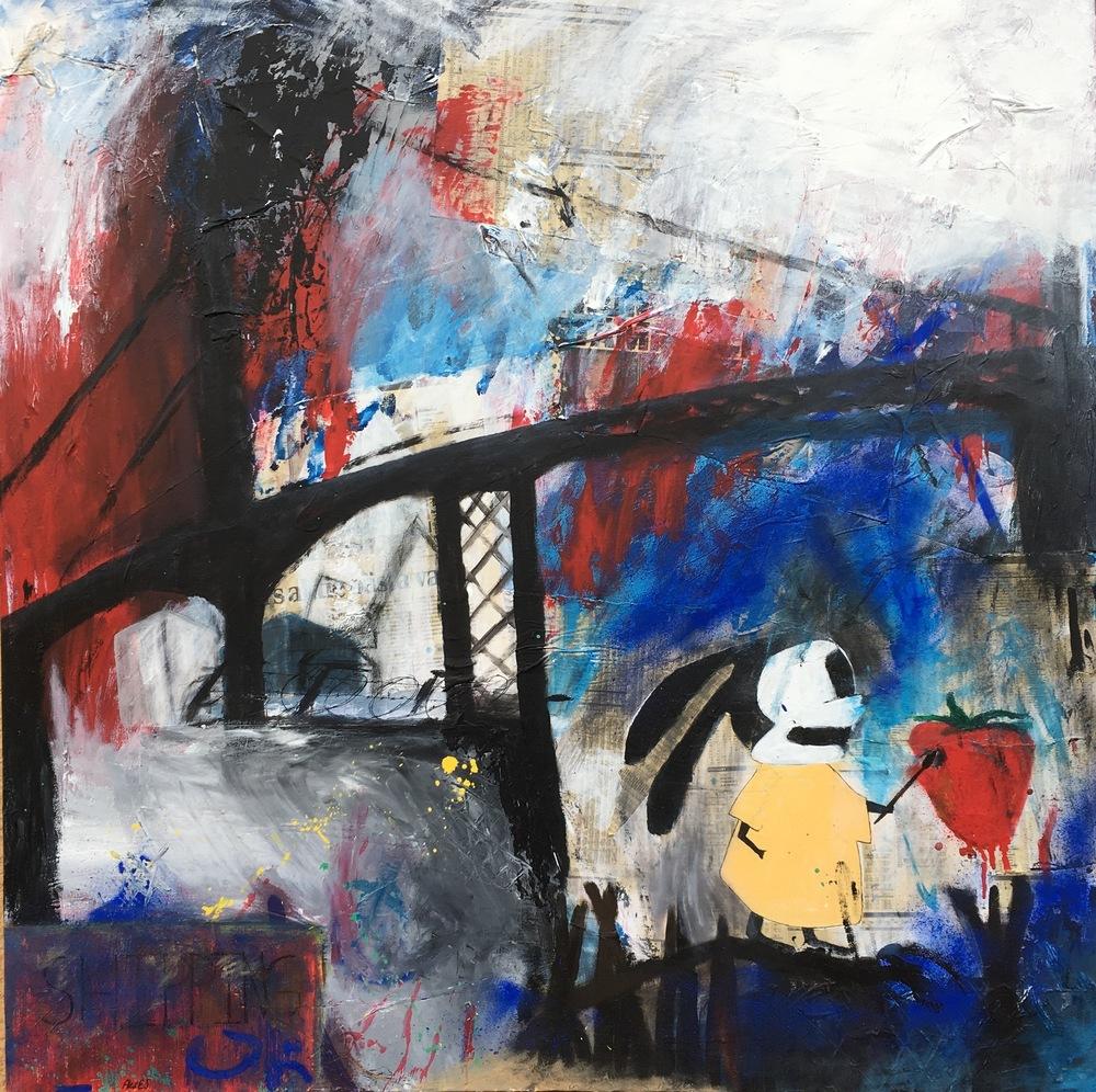 Alexander Ekman Sinclair - ART - River tour Rabbit (såld)