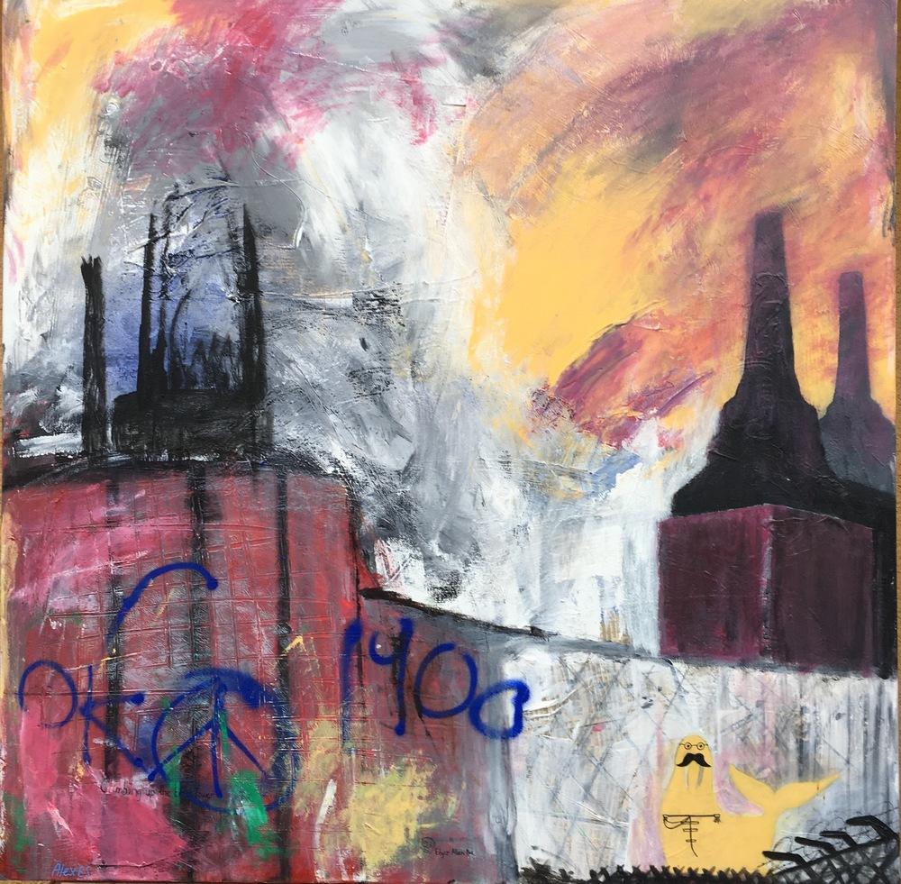 Alexander Ekman Sinclair - ART - Battersea Sunset (såld)