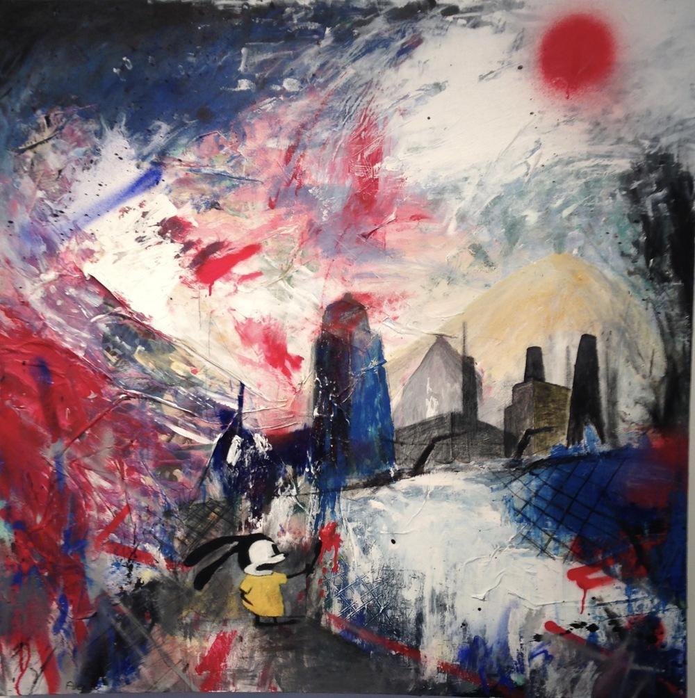 Alexander Ekman Sinclair - ART - City Rabbit (såld)