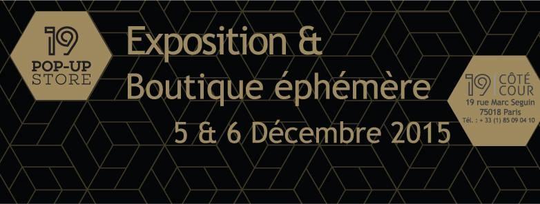 chauvinamandine - Exposition des séries de vases Totem et Falaise au 19 Pop-up Store organisé par 19 Côté Cour, décembre 2015.