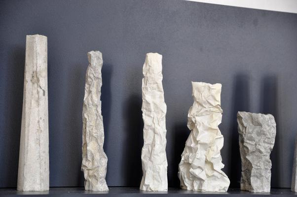 chauvinamandine - Vases de la série Totem et Falaise © 2014 Chauvin Amandine