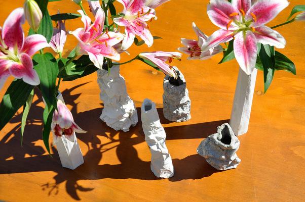 chauvinamandine - Vases de la série Totem et Falaise ©Chauvin Amandine