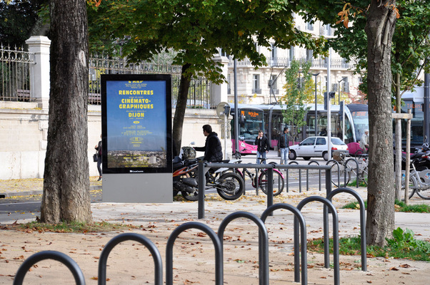 chauvinamandine - Affiche dans un encadrement publicitaire à Dijon ©Chauvin Amandine