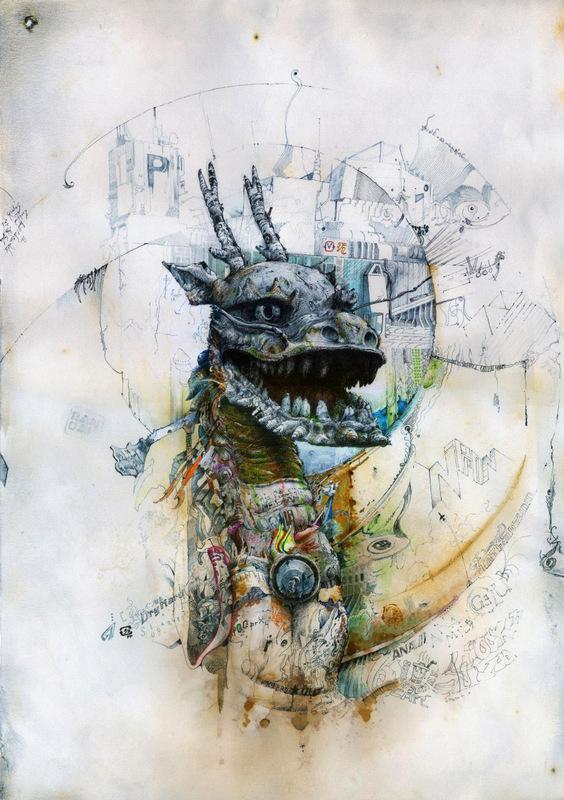 Daniel B Art - Dragon of the Rising Sun