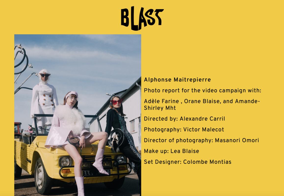 ALPHONSE-MAITREPIERRE - Janvier 2018 / BLAST MAGAZINE http://blastmagaz.in/alphonse-maitrepierre