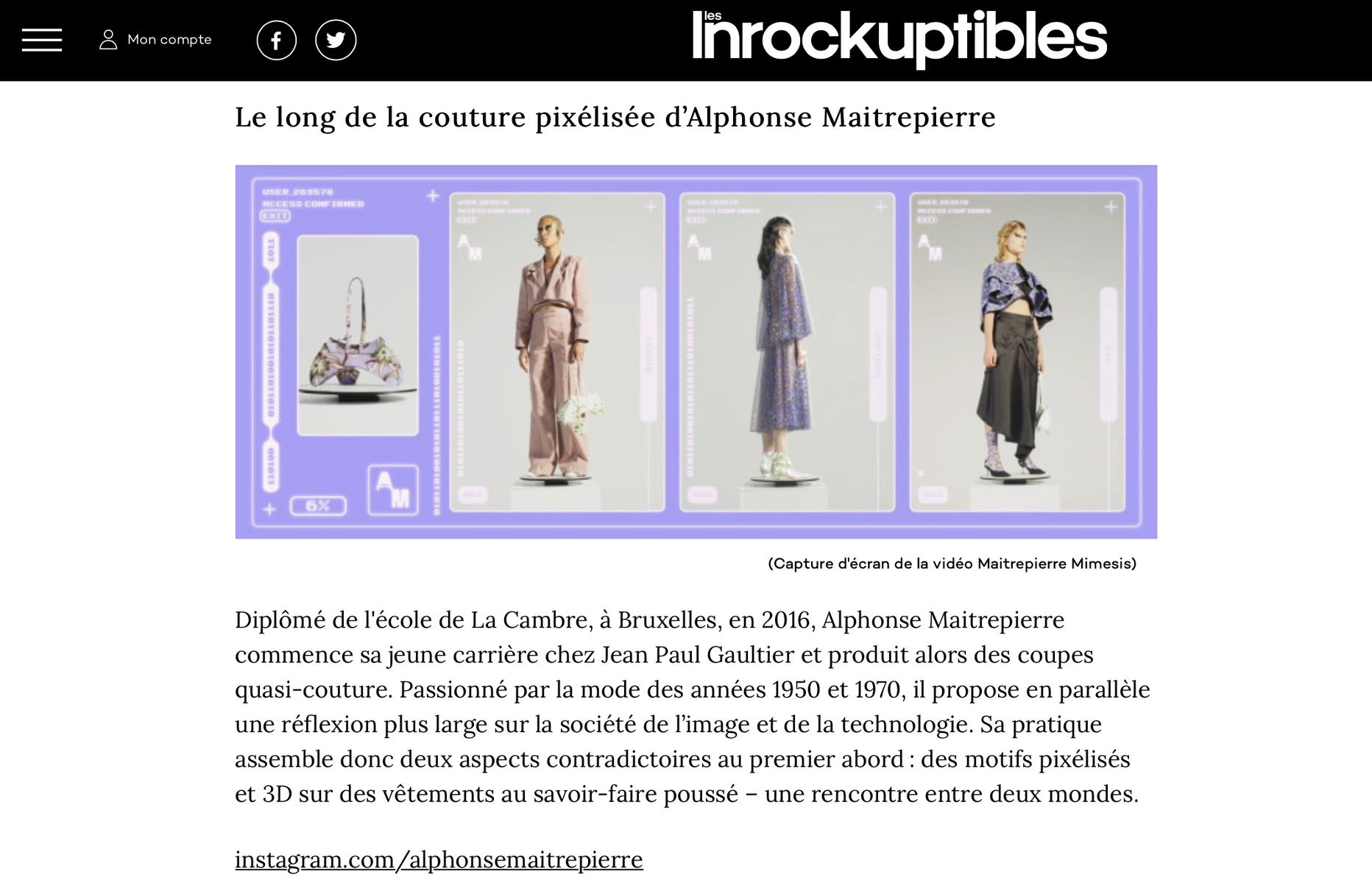 ALPHONSE-MAITREPIERRE - Les Inrocks