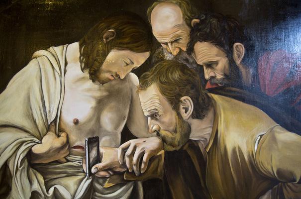 natasha mec - Oscar Turri Incredulità di San Tommaso olio su tela 100 x 70