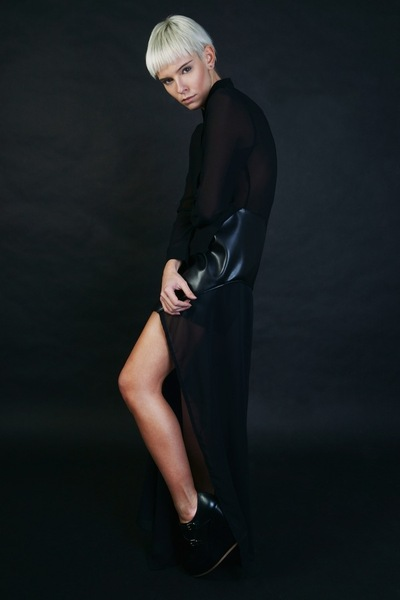 natasha mec - photo Alex Ricca styling CoolAunts model Alessandra Bergomi dress N.M.http://coolaunts.it