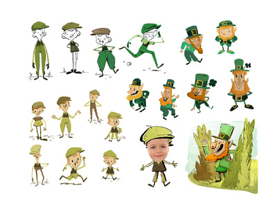 www.heleneleroux.com - Leprechaun chase ebook visual development - JIBJAB