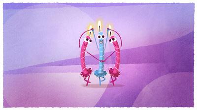 www.heleneleroux.com - Candle Ballet ecard - JIBJAB