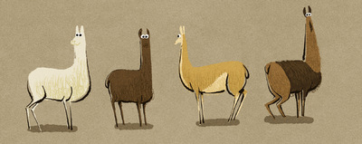 www.heleneleroux.com - lama - character design
