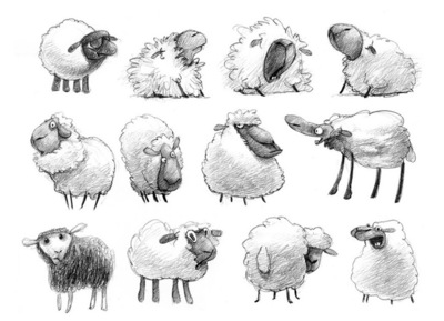 www.heleneleroux.com - sheep - character design