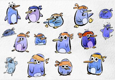 www.heleneleroux.com - pinguin character design - JIBJAB