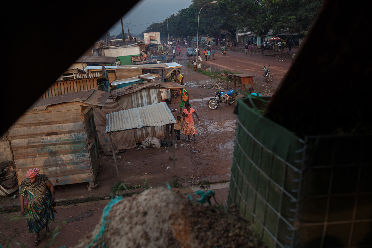 Adrienne Surprenant - View from a MINUSCA check point in Bangui.