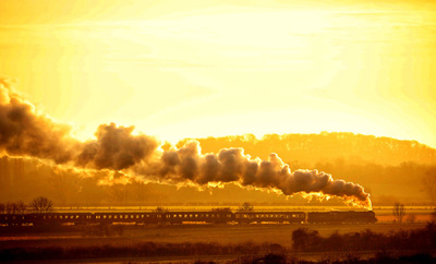 Paul Marriott Photography - Tornado steam train at sunset