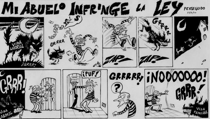 ilustrasoles - Abuelo Perseguido