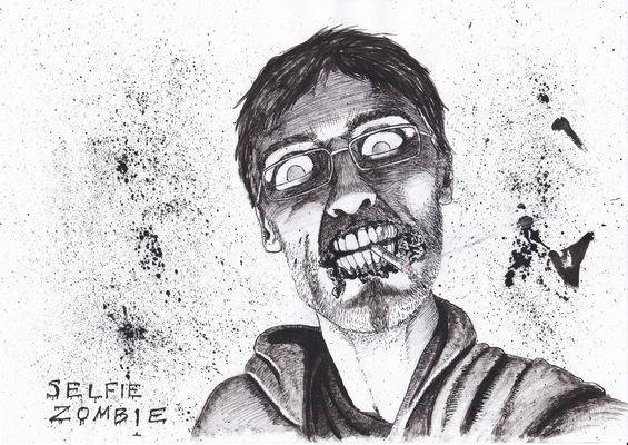 ilustrasoles - Selfie Zombie