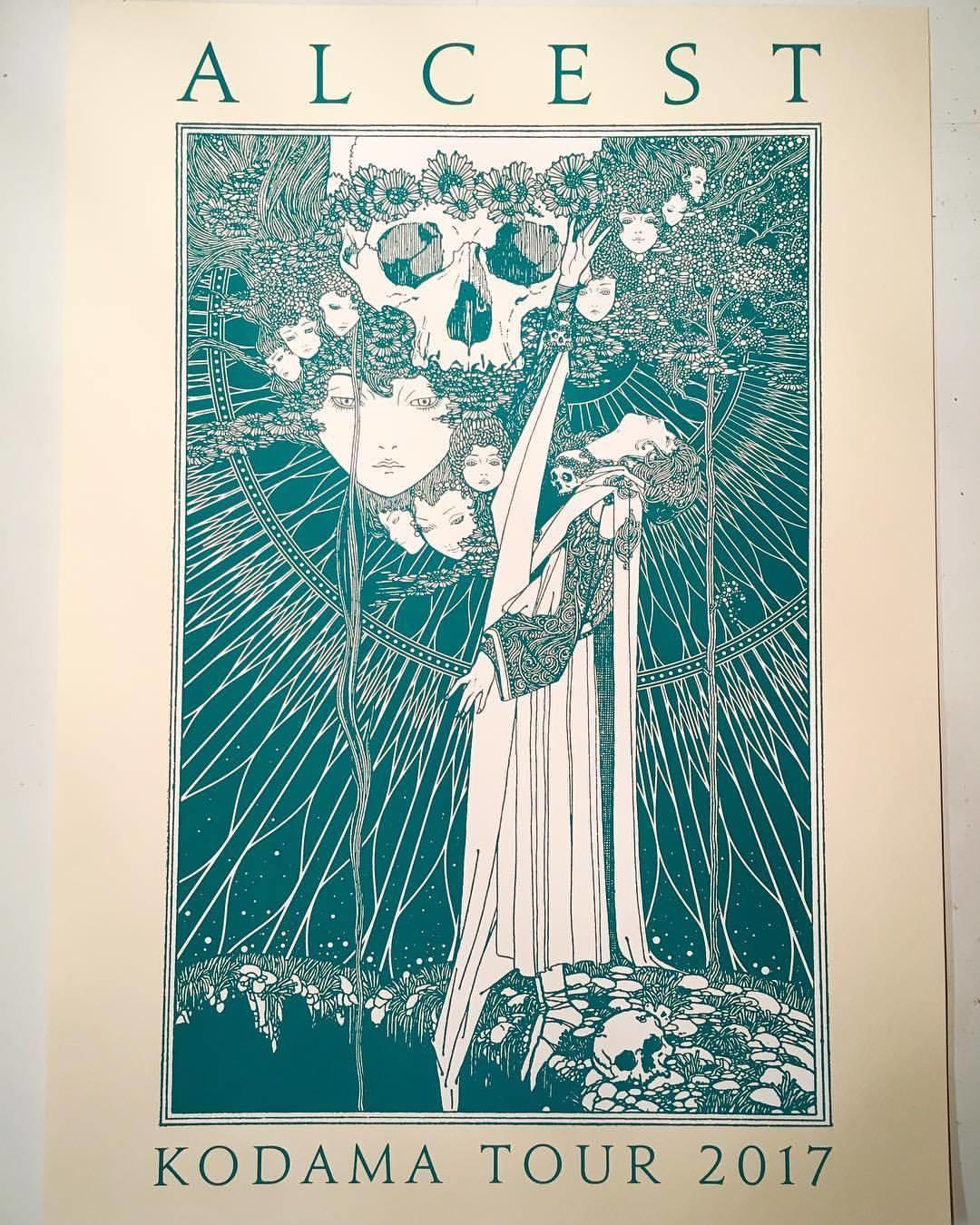 Alcest Kodama Tour Poster