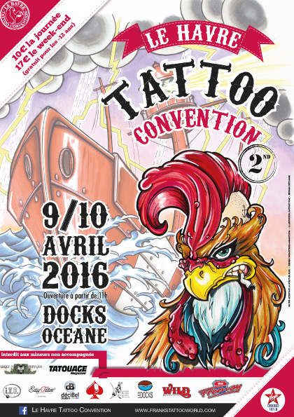 stevenmiagat - Affiche convention tatouage 2016 Déclinaison, Affiche, Flyer, carte, pass, bannière, T-shirt, gobelet etc..