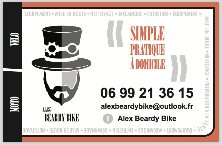 stevenmiagat - logo + carte de visite Alex Beardy Bike