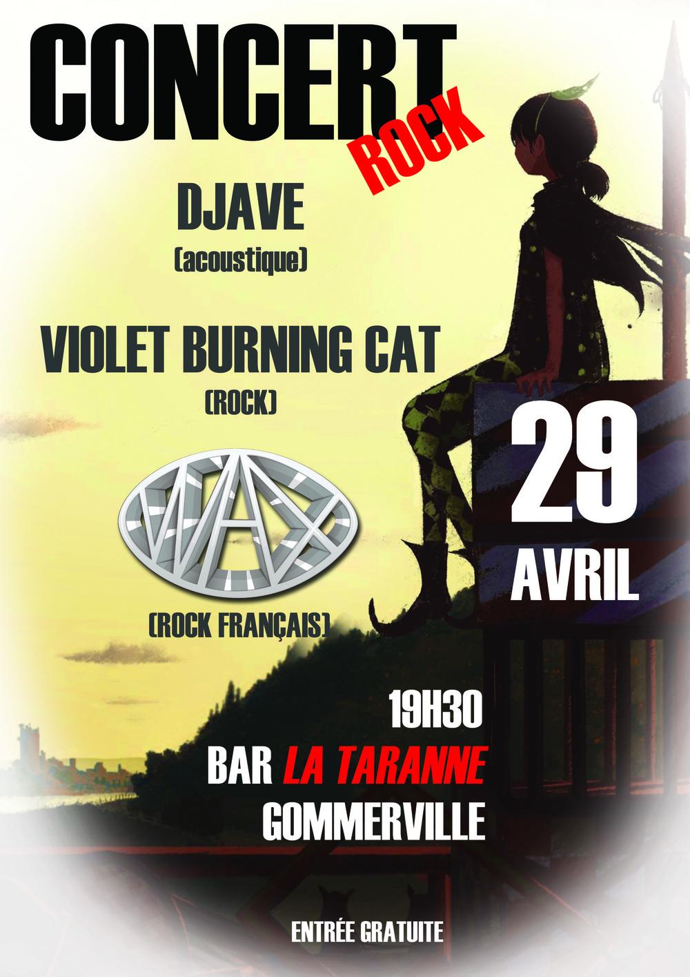 stevenmiagat - Affiche concert WAX